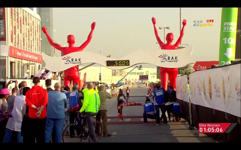 Halbmarathonweltrekord durch Peres Jepchirchir in 65:06